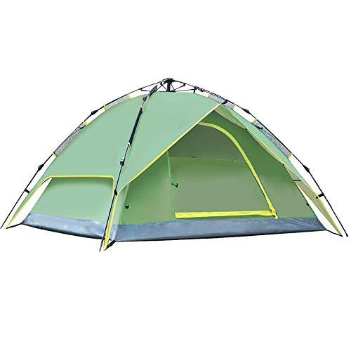 Carpa para Camping Tienda Automática Respirable Impermeable De Las Capas Dobles De 3-4 Personas con El Bolso para La Playa Camping Senderismo Pesca (Size:210x210x150cm; Color:Green)