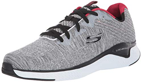 Skechers Men's Solar Fuse KRYZIK Trainers, Grey (Gray Mesh/Synthetic/Black Trim Gybk), 8 (42 EU)