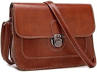 Leather Shoulder Bag For Women Fashion Brown Crossbody Bag For Lady Girls Korean Style HandBag