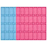 KINAKE 2 Pack Dominoes Molds Resin Molds Domino, Dominoes Chocolate Molds Candy Molds, 28 Cavities Silicone Mold for Pendant,Homemade Soaps, Lotion Bar, Jello, Resin, Chocolate and Dessert