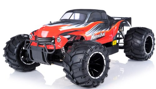 1/5th Giant Scale Exceed RC Hannibal 32cc Gas-Engine Remote Controlled Off-Road RC Monster Truck w/ 2.4Ghz TX 100% RTR & Fail Safe (AA Red)