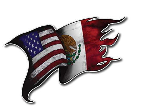 USA American Mexico Mexican Pride Country Flag Window Decal Bumper Sticker Car Truck SUV