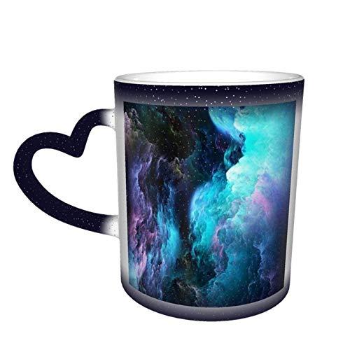 Taza de cerámica con cambio de color sensible al calor, taza con cambio de color de cielo estrellado, sorpresa de cumpleaños para niños y niñas, 11oz-775