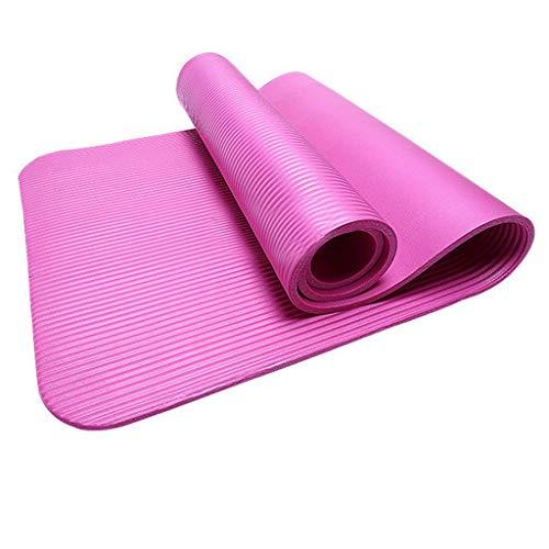 Flamedre 4 Mm Dicke Und Haltbare Yogamatte Anti-Rutsch-Sport-Fitness-Matte Anti-Rutsch-Matte Zum Abnehmen Gynastikmatte ÜBungsmatte Sportmatte FüR Yoga, Pilates, Fitness (Hot Pink, 183 * 55 * 0.4cm)