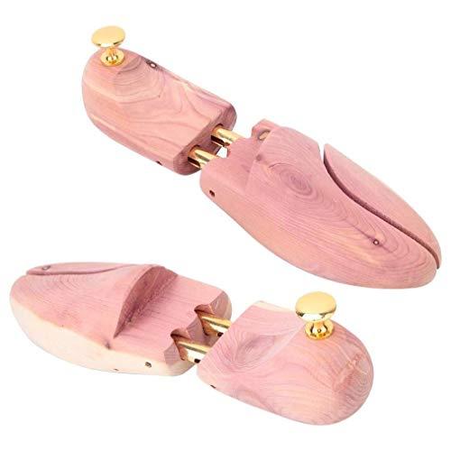 SJYSD-Bath Mat Camilla de Zapatos de 2 Piezas, Camilla de Zapatos de Madera de Cedro Rojo Árboles de Zapatos Antideformación Mujeres Hombres Talladora de Zapatos Camilla de Zapatos de Madera