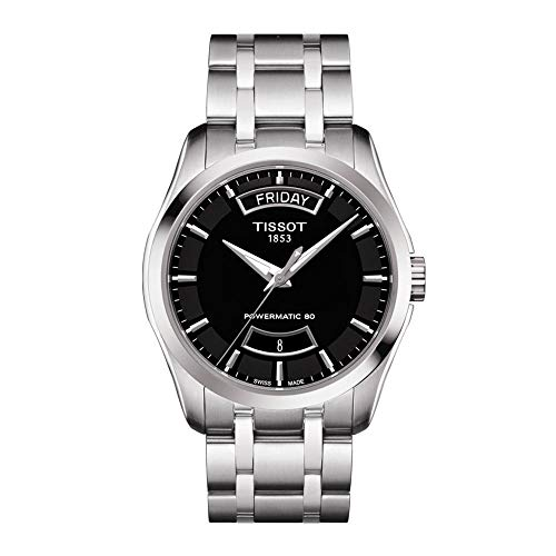 Tissot Couturier Black Dial Stainless Steel...