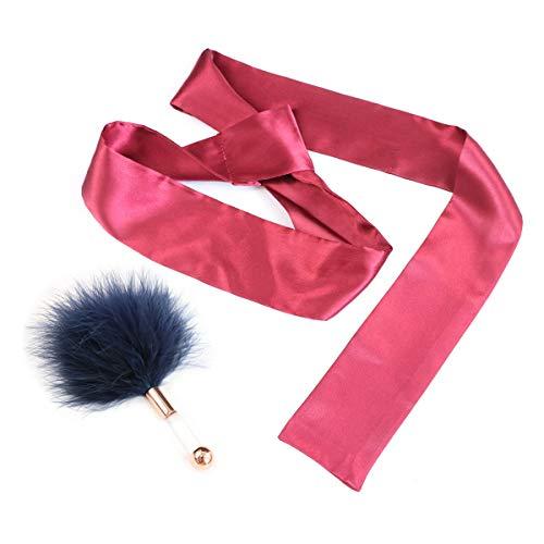 xzw-us 2 x multifunktionaler Seidengürtel und Feder-Tease Kristallstab (Augenmaske, Schal und Handhülle).