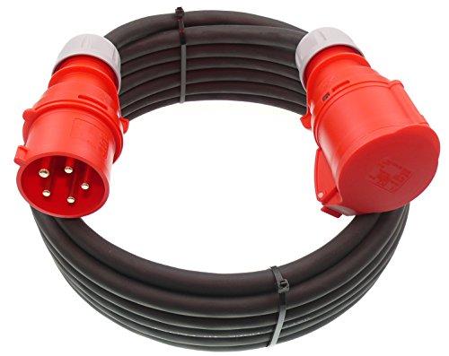 netbote24® CEE Verlängerungskabel Starkstromkabel 32A 400V Gummileitung H07RN-F 5g4 mm² IP44 Außen (20m)