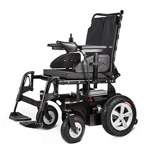 BYCDD Heavy Duty Elektrische rolstoelen, afneembare luchtbanden, eenvoudige reis, voor ouderen, zitstoel, breedte 18 inch