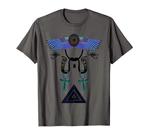 Pirámide de Ankh del Antiguo Egipto Ojo de Horus Camiseta