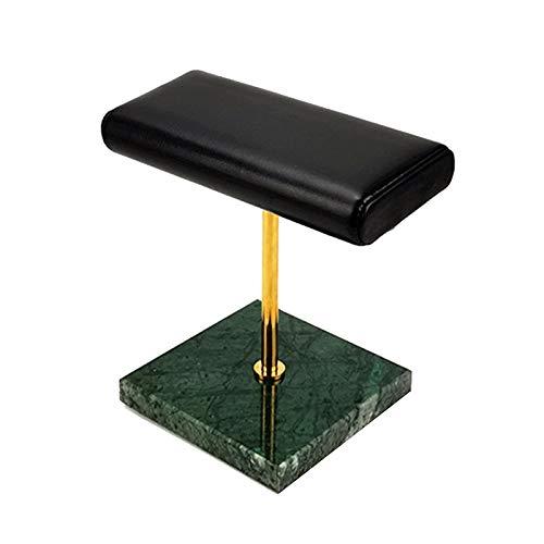 Cobeky Soporte para reloj con base de mármol, metal dorado, soporte de exhibición para pulsera, alargar la colocación