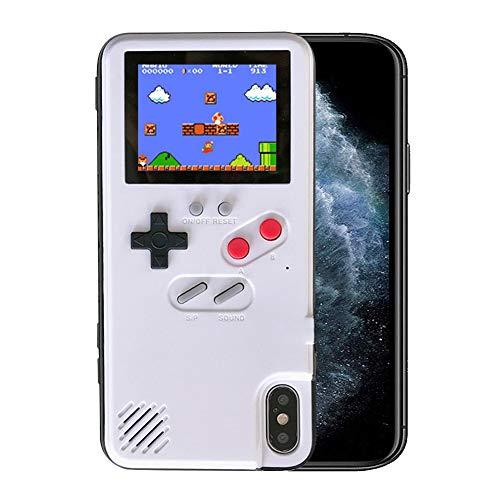 Kesv Gameboy Funda para Phone,Retro 3D Gameboy Design Style Funda de Silicona con 36 Juegos Peque?os, Pantalla a Color, para OPPO A9
