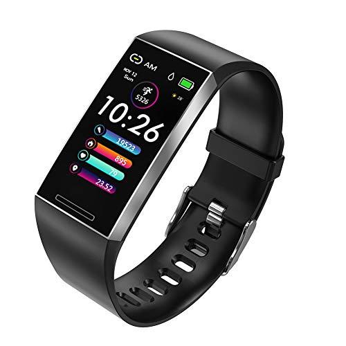Fitness Tracker Slimme Armband, 24 Uur Per Dag Hartslagmeter, Multiple Beweging Modes Stappenteller, Slaap Monitor, Synchrone Push Informatie,Silver