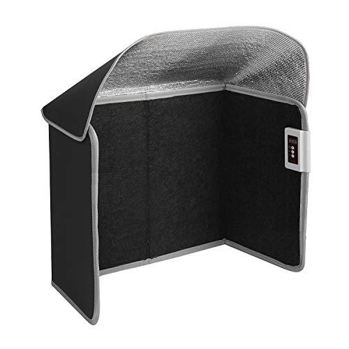 Livtribe Raumheizung, faltbarer Fußwärmer mit Timer & Überhitzung & Tip-Over-Schutz, tragbare Panel-Heizung für Büro und Zuhause (Schwarz)