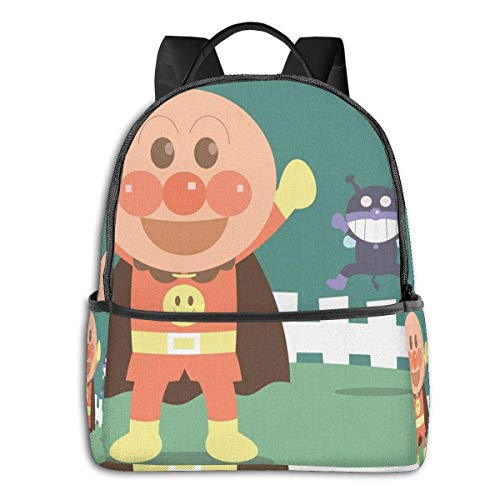 IUBBKI Mochila lateral negra Mochilas informales Anpanman Student School Bag School Cycling Leisure Travel Camping Outdoor Backpack