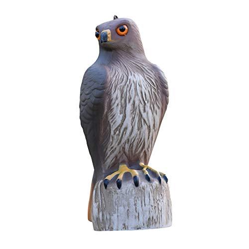 perfk Bird Scarecrow Fake Horned Decoy,Bird Repellent Garden Protectors, Natural Enemy Pest Deterrent Scarecrow