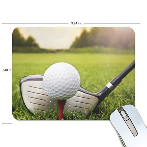 LZXO Mauspad für Gaming, Sport, Golfschläger, Balldruck, 190 x 250 x 5 mm, rutschfeste Gummiunterseite, wasserdichte Oberfläche für Gaming und Büro