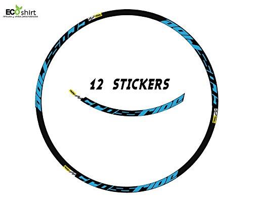 Ecoshirt CM-ARY1-8QTC velgensticker Mavic Crossride Am15 A Sticker Decal Sticker MTB Fiets blauw 26