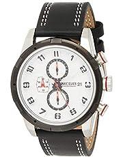 ساعة كوارتز للرجال من ميجر بشاشة عرض كرونوغراف وسوار من الجلد - طراز 2082G