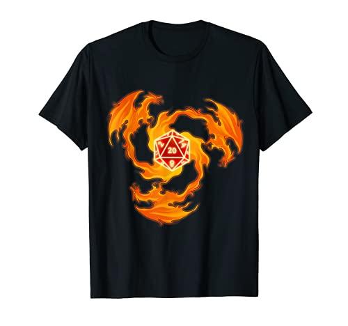 Drachen Shirts Dungeons Geschenk Dragon Shirt -  Feuer Drache W20
