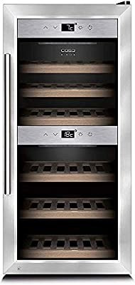 Caso WineMaster 24 - wine coolers (freestanding, 5 - 22 �C, Silver, B, Black, LED) from CASO Germany