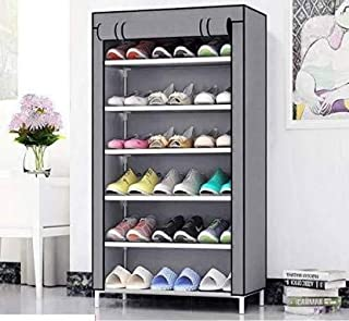 Caxon Home Creative 6 Layer Collapsible Shoe Rack Grey Metal Collapsible Shoe Stand (6 Shelves)