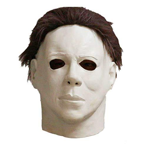 GAME Michael Myers Overhead Mask Latex W/Hair Halloween Full Head Fancy Dress Mask