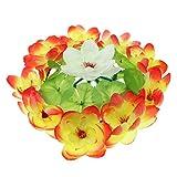 SM SunniMix Handgemachte Grabschmuck Grabgesteck Blumen Gesteck Blumenkranz für Urnengrab Waldfriedhof - A