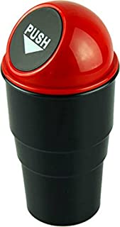 Inditradition Car Bike Trash Bin, Garbage Storage Glass (Fits in All Cars, Black)