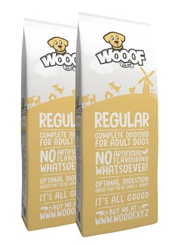 WOOOF Regular 36kg kaltgepresstes Hundefutter mit Rindfleisch | Purinarmes Trockenfutter, natürliche Zutaten, leicht verdaulich, ohne Weizengluten
