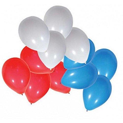 24 Ballon de baudruche Tricolore - France Bleu Blanc Rouge - 715