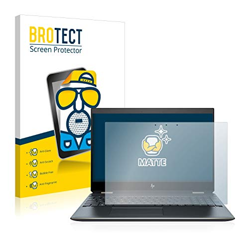 BROTECT Entspiegelungs-Schutzfolie kompatibel mit HP Spectre x360 15-df0106ng Bildschirmschutz-Folie Matt, Anti-Reflex, Anti-Fingerprint
