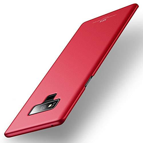Estuyoya - Hoesje compatibel met Samsung Galaxy Note 9 Stijve achterbehuizing Ultra dun Val- en schokbestendig Anti voetafdrukken Licht bescherming Slim Series - Rood