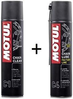 MOTUL Pack +ECONOMICO Spray Cadena C1 400ml Limpia C4 ENGRASE Special Carretera