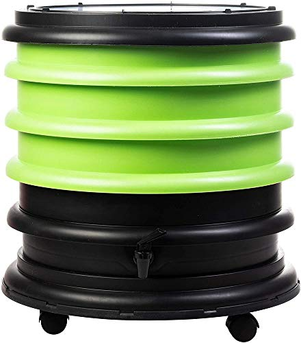 WormBox : Wurmkomposter Wurmfarm mit 3 Schalen Grün - 48 Liter