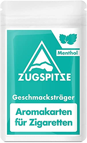 ZUGSPITZE 30 Menthol Aroma-Karten für Zigaretten oder Tabak - Menthol aus 100{8841aaabec6ba56741dda7150493b31f069abd68d4d7eb788430acef5f6c1644} natürlicher japanischer Minze