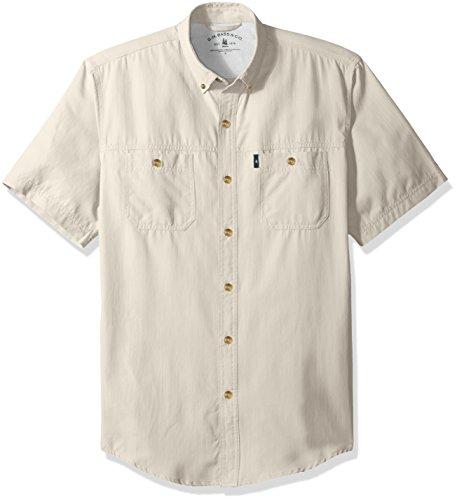 G.H. Bass & Co. Men's Explorer Point Collar Short Sleeve Fishing Shirt,...