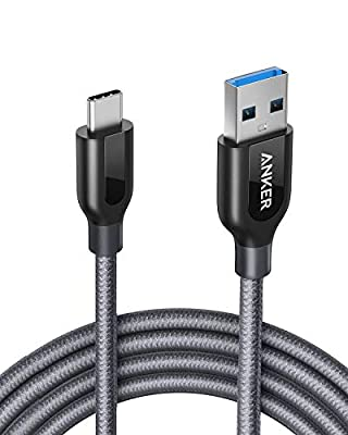 Anker PowerLine+ USB-C to USB 3.0 cable (6ft/1.8m), High Durability, for USB Type-C Devices Including Galaxy S8/S8+/S9/S10, MacBook, iPad Pro 2018, Sony XZ, LG V20 G5 G6, HTC 10, Xiaomi 5 and More