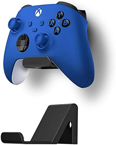 Controller Halter für PS4 PS5 Xbox Switch Pro Kontroller Anti-rutsch Design, 3M Klebstoff/Schraube 2 Pack Controller Halterung Wand für Universal Controller Kopfhörer Zubehör, Shark 12 Mini