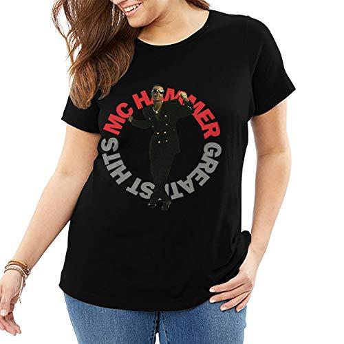 John J Littlejohn Mc Hammer Greatest Hits para mujer camiseta de algodn Tops casual camisa de desgaste de la calle ms tamao camiseta