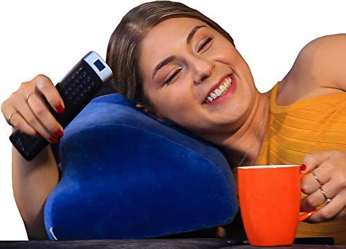 Netpill - Nackenkissen für Zuhause und Homeoffice I Innovatives Stützkissen zum Fernsehen I Ergonomisches Kopfkissen gegen Verspannungen
