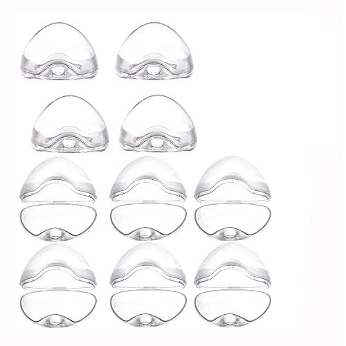 10Pcs Schnullerbox für Baby,Transparent Schnullerbox,Schnullerbox Tragbar,Schnuller Vorratsbehälter,Schnuller Box Staubdicht,Transparent Staubdicht Box