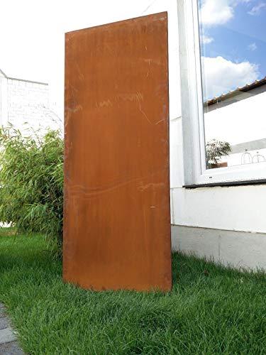 Zen Man Edelrost Garten Sichtschutz aus Metall Rost Gartenzaun Gartendeko Edelrost Sichtschutzwand 1mm 031506-1 B75*H150cm