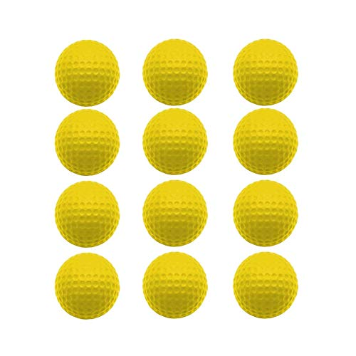 Balle De Golf En Mousse Entrainement ÉPonge PU 12 Pieces,Balle De Golf Doux Confortable 5...