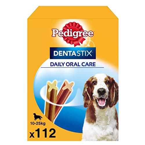 Pedigree Pack de Dentastix de uso Diario para la Limpieza Dental de Perros Medianos (1 Pack de 112ud)