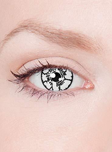 Maskworld Byakugan Kontaktlinsen/Jahreslinsen - Motivlinsen ohne Sehstärke - Unisex - Erwachsene - ideal für Halloween, Karneval, Motto-Party & Horror-Events