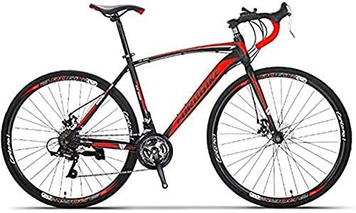 YANGHAO-Bicicleta de montaña para adultos- 700C Bike Bike City City Bicycle con 21 velocidades DriveTrain, Hombre Hybrid Road Road Bike, frenos de disco, marco de acero al carbono Suspensión completa