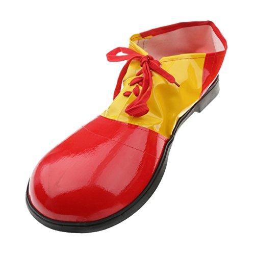 1 Paire Clown Chaussures Adultes Enfants Déguisement Accessoire Costume de Cirque - Rouge