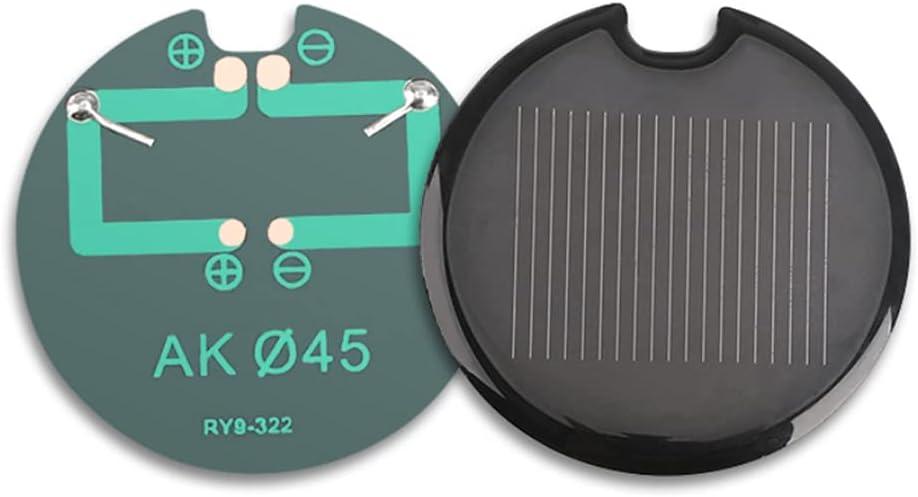 Fraflor 50Pcs Solar Cell PET Round 0.5 45MM Diameter overseas Panel Limited time cheap sale