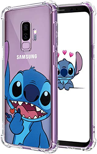 Lupct for Samsung S9 Case, Soft TPU Protective Shockproof Cartoon Cute Mobile Phone Heart Stitch Fashion Design Cover Skin Slim Fit Funny Cool Fun Ultra-Thin Bumper Clear Shell for Samsung Galaxy S9